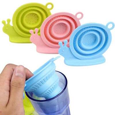 New Snail Sink Silicone Infuser Loose Tea Leaf Strainer Residue Filter Diffuser