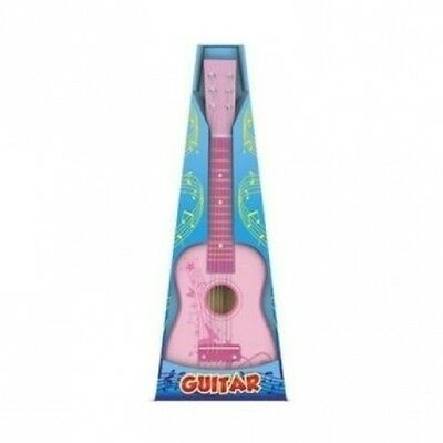 Pink Childrens Wooden GUITAR 59 CM. Free Delivery