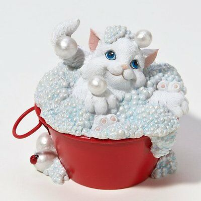 NEW Enesco Charming Purrsonalities Bubbling Over With Happiness 4022696