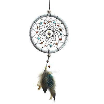Silver Dream Catcher Feathers Core Bead Dreamcatcher Car Wall Decoration Hanging