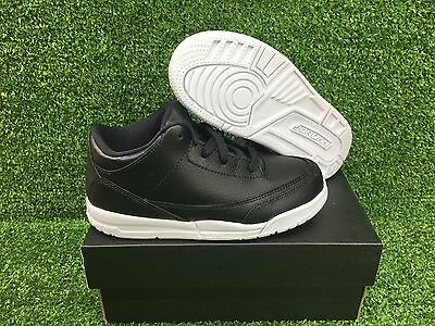75ab4b6e0b5893 Kids Air Jordan 3 Retro Iii Bp New Ps Shoes Black White Cyber Monday 429487-