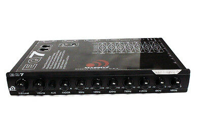 Massive Audio EQ 7 7X 1/2 Din 7 Band In-Dash Equalizer 6 Channel Out High Input