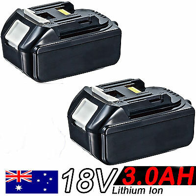 2x18V 3.0AH Battery For Makita BL1830 BL1815 LXT Lithium Ion Cordless Heavy Duty