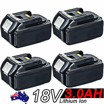 4x18V 3.0AH Battery For Makita BL1830 BL1815 LXT Lithium Ion Cordless Heavy Duty