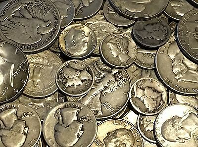 2 TROY POUND BAG MIXED 90% SILVER COINS-US MINTED-No Junk-No Nickels!
