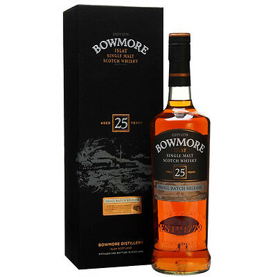 Bowmore Small Batch Release 25 Year Old Single Malt Scotch Whisky 700mL