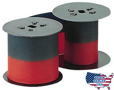 Lathem Time Recorder 2-Color Replacement Ribbon For 2121/4001 Models, New