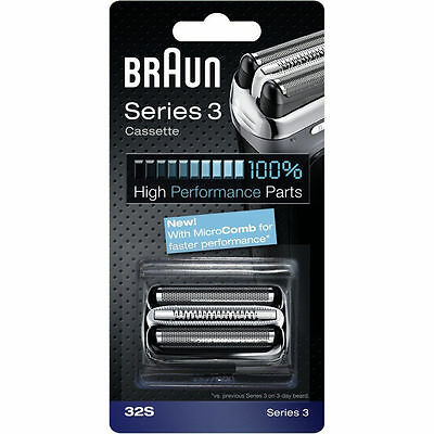 NEW BRAUN 32S Series 3 Shaver Cassette Foil & Cutter with MicroComb Technology