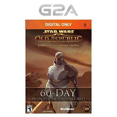 60 Days SWTOR Timecard - Star Wars the Old Republic GTC - 60 days Game Card Code