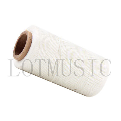 260 Meter 1mm 150D White Leather Sewing Flat Waxed Dacron Thread Cord DIY Thread