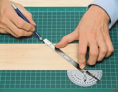 Protractor Stainless Steel For - Model Trains - Dolls Houses + ALL HOBBIES