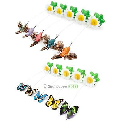 Funny Pet Cat Toys Butterfly Cat Kitten Playing Toys Pet Seat Scratch Toy E0Xc