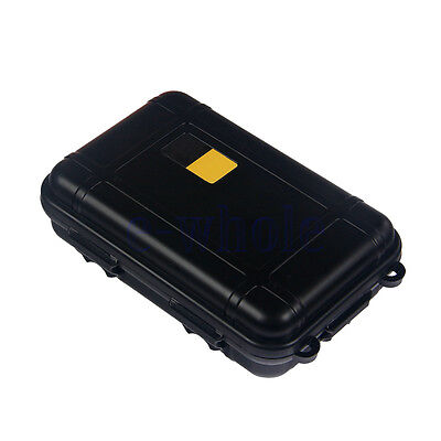 Black Large Outdoor Survival Waterproof Sealed Storage box Case Container WS