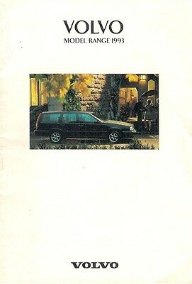 Volvo 1993 UK Market Sales Brochure 440 460 480 240 850 940 960