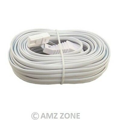 3m ADSL Broadband Telephone Extension BT Internet Modem Router White Lead Cable