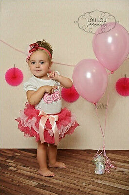 Baby Girls Kids Birthday Outfit Tutu Skirt + Top 2PCS Clothes Set Birthday Girl
