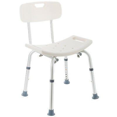 Shower Seat with Back Bath Seat Shower Stool Bath Chair Adjustable Height
