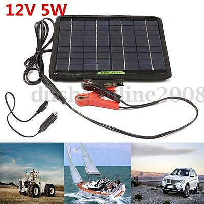 12v chargeur batterie photovolta que panneau solaire portable pr camping voiture eur 19 99. Black Bedroom Furniture Sets. Home Design Ideas