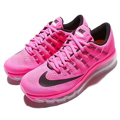 Wmns Nike Air Max 2016 Pink Black Womens Running Shoes Sneakers 806772-601
