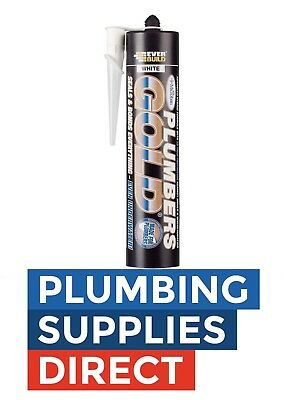 * Ever Build - Plumbers Gold Silicon Sealant / Adhesive In White