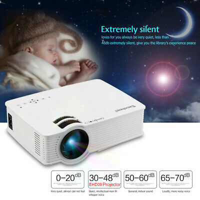 Excelvan LED Portable Projector HD 1080P HDMI USB VGA For Home Theater Outdoor
