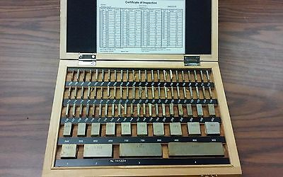 81 PCS/SET SQUARE GAGE BLOCK SET grade 3 (A-), w.NIST Equivalent certificate-new