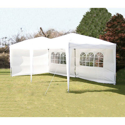 Airwave 3x6m White Pop Up Gazebo with Carry Bag - Fully Waterproof Marquee
