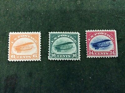 United States of America - Curtiss Jenny Air Set of 3 Mint Stanley Gibbons 546/8