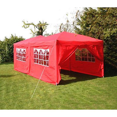 Airwave 3x6m Red Pop Up Gazebo with Carry Bag - Fully Waterproof Marquee