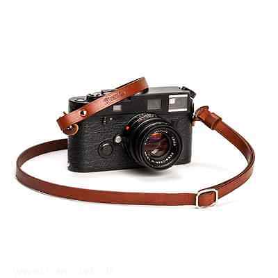 Adjustable Leather Camera Strap with ring connection by Cam-in - Brown