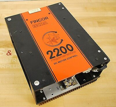 Fincor Model 2200 Regenerative DC Motor Control, 1/2 HP 115-230 VAC - USED