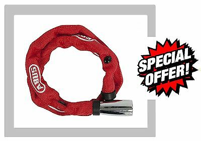 Abus 1500 Bike Cycle Bicycle RED Security Safety Lock Keyed Chain 60cm Key