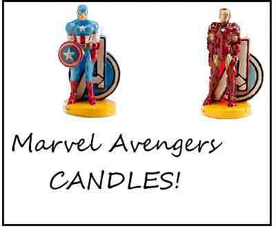 Marvel Avengers Licensed Candle Birthday Cake- IRONMAN/ CAPTAIN AMERICA