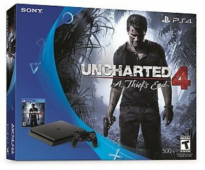 Uncharted 4: A Thief End PlayStation 4 Slim Bundle Play Kids New Free Shipping!!