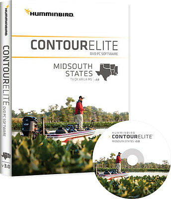 Humminbird Contour Elite - MidSouth States - Version 3 Map Card
