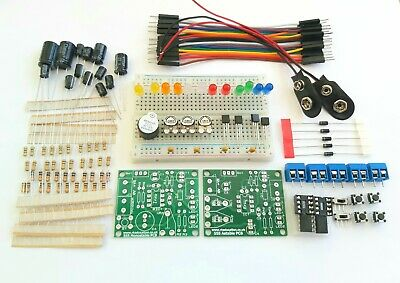 555 Timer Beginners Electronics Prototyping Breadboard Kit - 2 Full 555 Kits