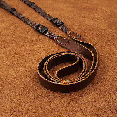 Thin Brown Leather Cam-in Mirrorless Camera Strap CAM2213 UK Stock