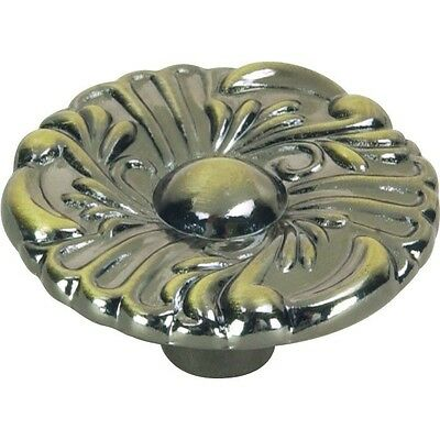 "Hardware House 64-3007 1-1/2"" French Cabinet Knob Antique Brass"