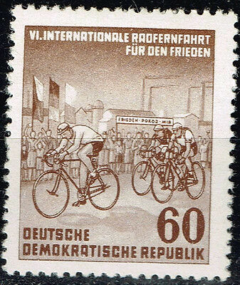 Germany DDR Bicycle Race stamp 1950 MLH