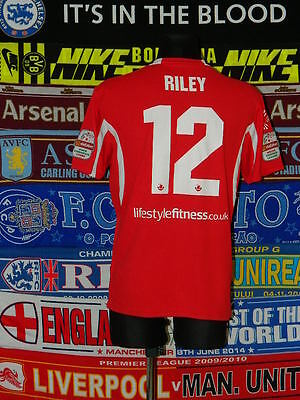 4/5 Gap Connahs Quay adults L #12 Riley away football shirt jersey trikot soccer
