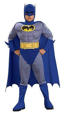 Halloween Batman Muscle Chest Jumpsuit Only Child's Costume Toddler Small 2-4T