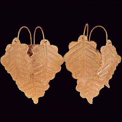 Antique Art Deco Pair of Wall Sconces with Glass Leaves