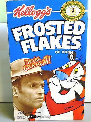 Puerto Rico Baseball Roberto Clemente Kellogg's Frosted Flakes Cereal Box
