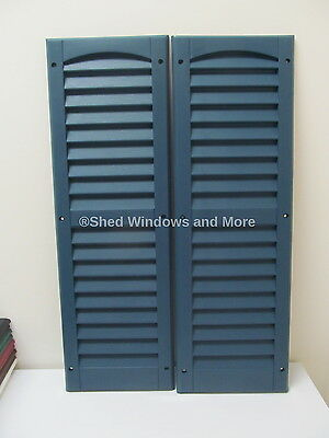 """9"""" x 27"""" Shutters Blue One Pair Shed Playhouse Storae Building Barn Garage"""