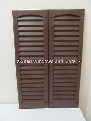"""9"""" x 27"""" Shutters Brown One Pair Shed Playhouse Storae Building Barn Garage"""