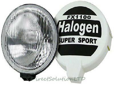 Pair of Large Rally Halogen Round Spot Lights 7inch Super Sport 2 pce SWDL6
