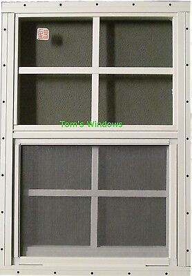 12 x 18 White J-Channel Chicken Coop Window Playhouse Tree House Shed Deer Stand