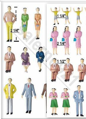 20 Figurines Mixed Lot (Seating-Standing-Boy-Girl-Child)1:30 Diorama Miniature