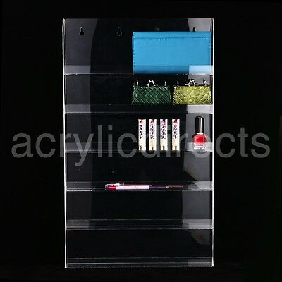 Wall Mounted Acrylic Nail Polish Display Stand Varnish Shop Retail 66 Bottles UK