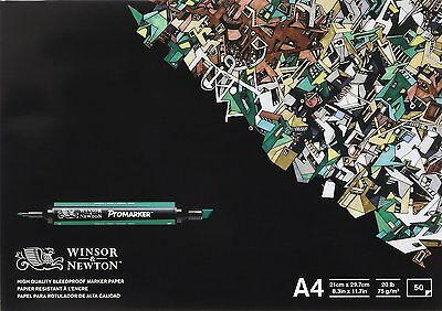 Winsor and Newton A4 Bleedproof Paper (Pack of 50 Sheets)